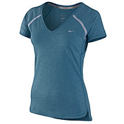 Nike Tailwind Womens Short Sleeve V Neck Top